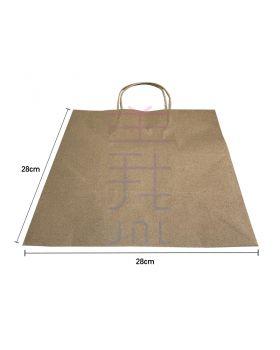 Kraft Paper Bag - H28-L28-B21 (50pcs/bundle)